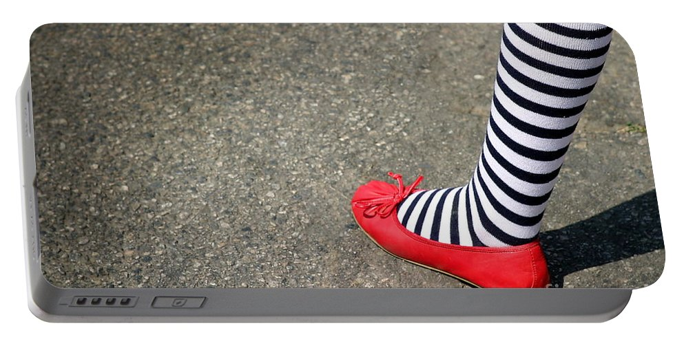 American Portable Battery Charger featuring the photograph 4th July Foot by Henrik Lehnerer