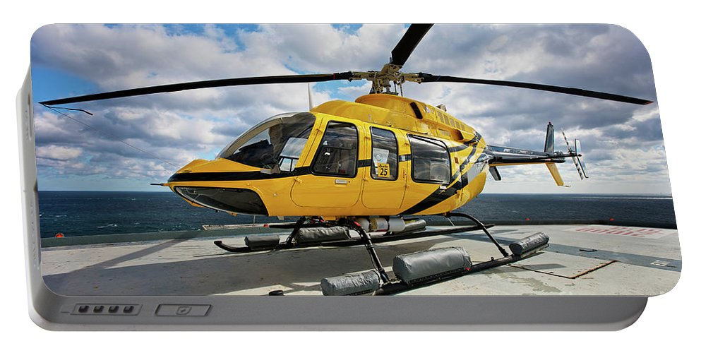 Bell 407 Portable Battery Charger featuring the photograph A Bell 407 Utility Helicopter by Terry Moore