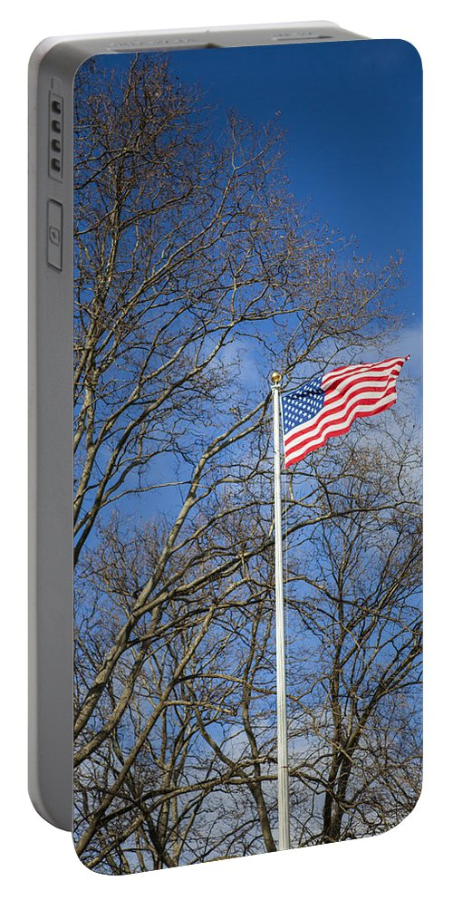 American Flag Portable Battery Charger featuring the photograph American Flag by Theodore Jones