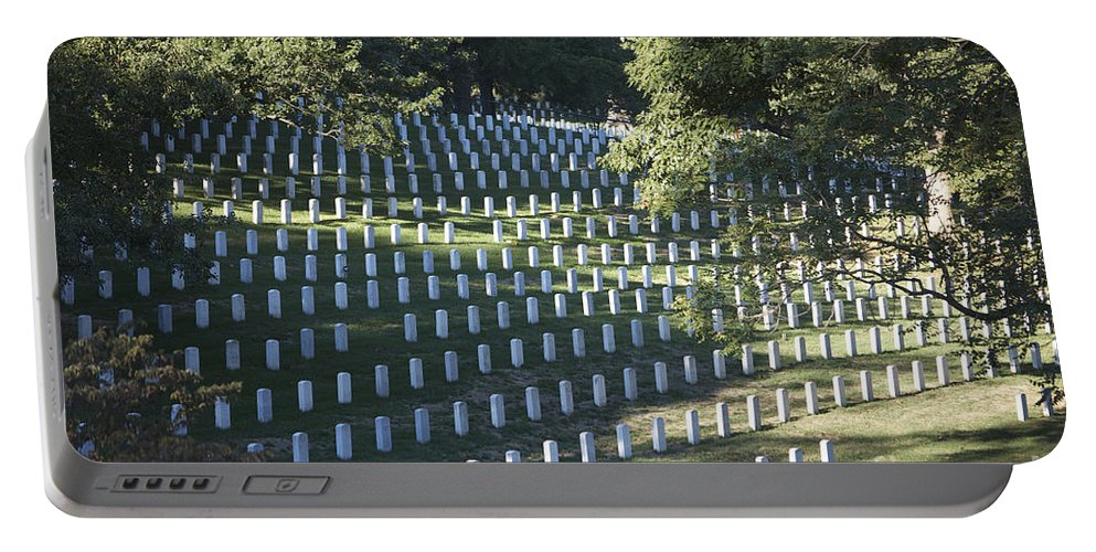 Horizontal Portable Battery Charger featuring the photograph Arlington National Cemetery, Arlington by Terry Moore