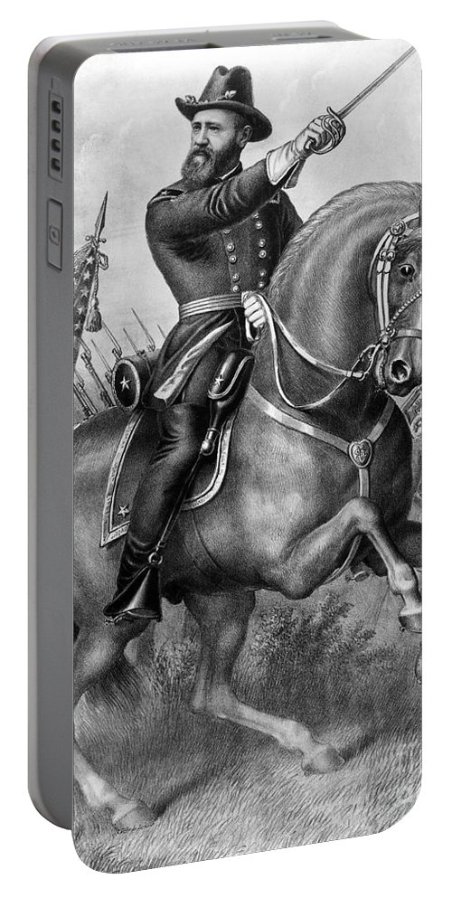 1864 Portable Battery Charger featuring the photograph Benjamin Harrison by Granger