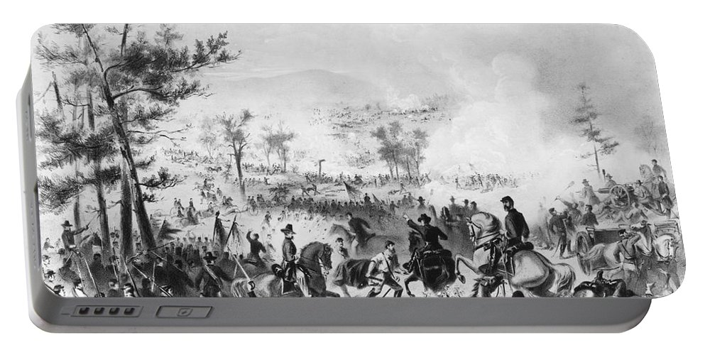 1863 Portable Battery Charger featuring the photograph Civil War: Gettysburg by Granger