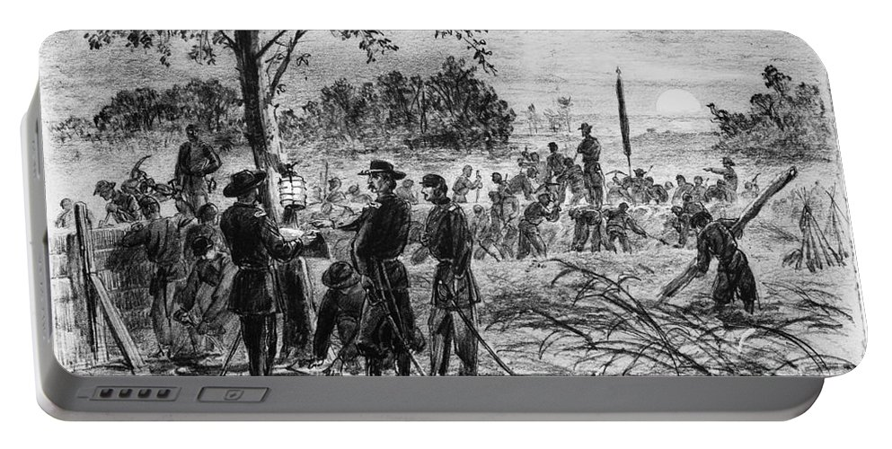 1864 Portable Battery Charger featuring the photograph Civil War: Petersburg by Granger