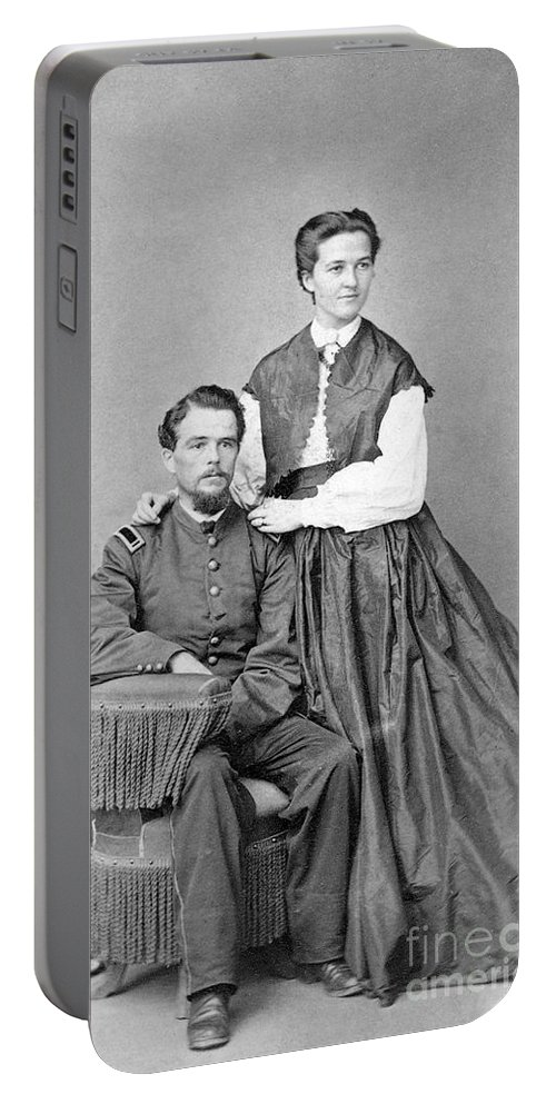 1860s Portable Battery Charger featuring the photograph Civil War: Union Soldier by Granger