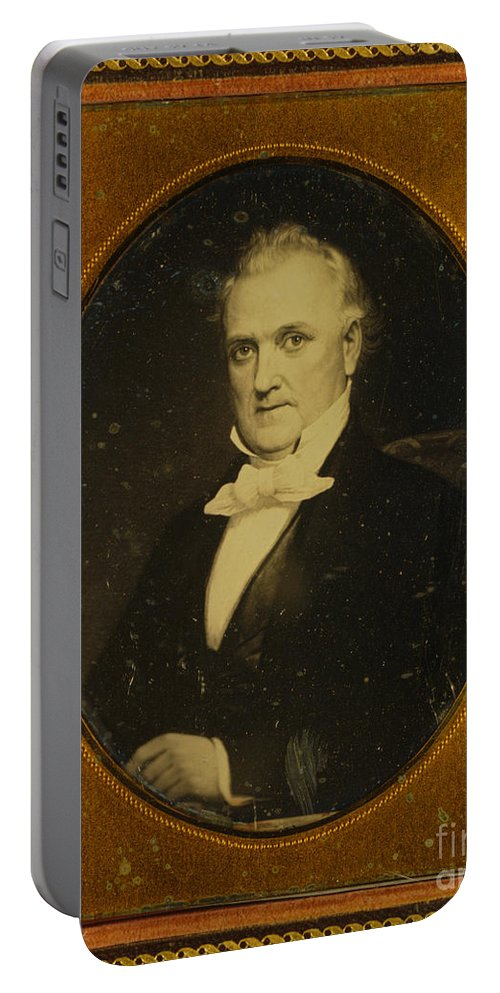 Government Portable Battery Charger featuring the photograph James Buchanan, 15th American President by Photo Researchers