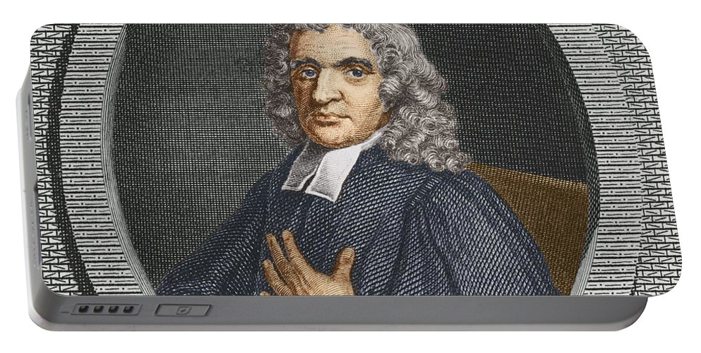 Science Portable Battery Charger featuring the photograph John Flamsteed, English Astronomer by Science Source