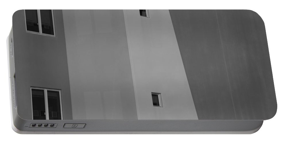Architecture Portable Battery Charger featuring the photograph Qw School In Black And White by Rob Hans