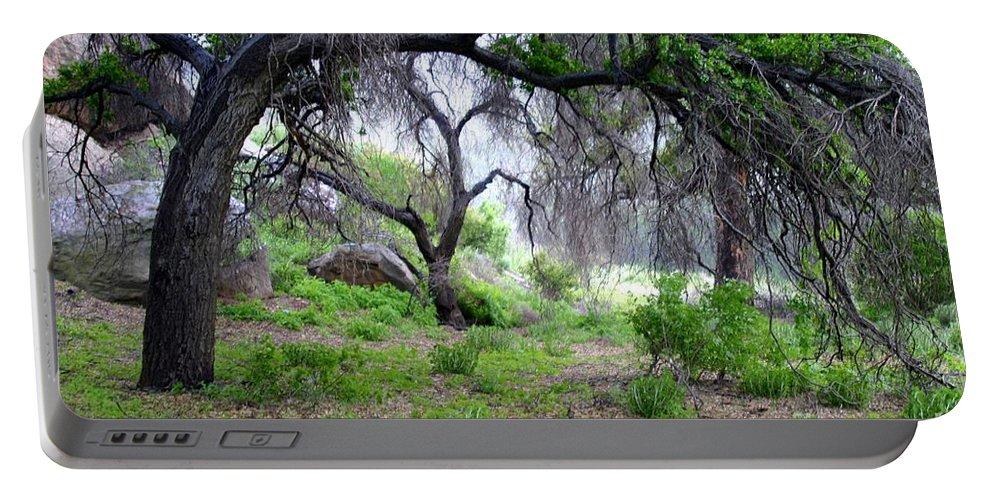 Outside Portable Battery Charger featuring the photograph Santa Susana Mountains by Henrik Lehnerer