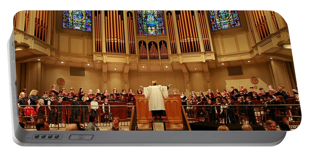 Choir St. James Cathedral Portable Battery Charger featuring the photograph St James Cathedral by Mike Penney