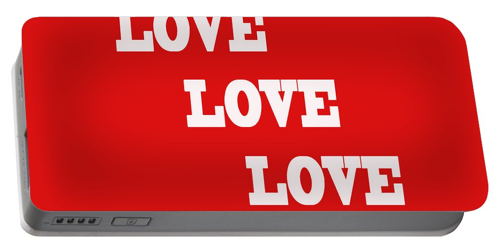 Love Portable Battery Charger featuring the photograph 5 Steps Of Love by Paul Ward