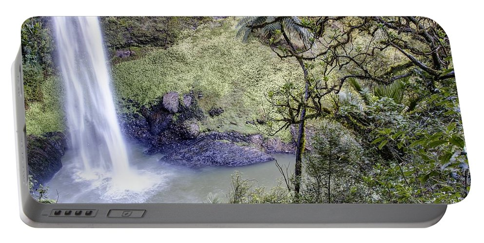 Waterfall Portable Battery Charger featuring the photograph Waterfall by Les Cunliffe