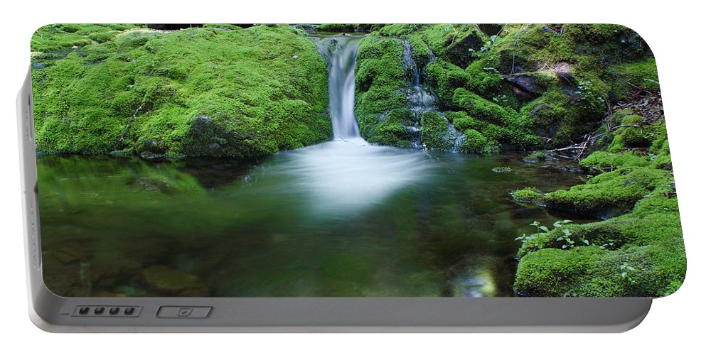 Waterfall Portable Battery Charger featuring the photograph Waterfall by Ted Kinsman