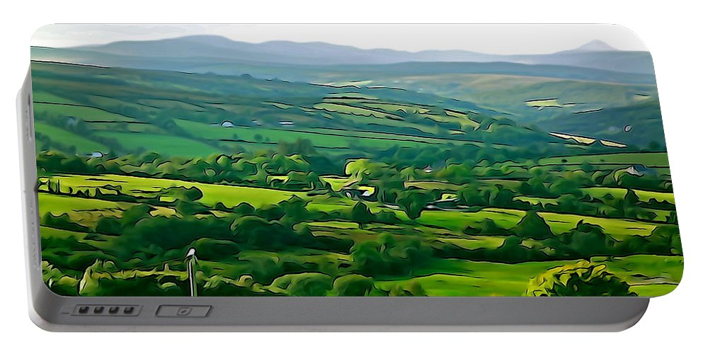 Green Portable Battery Charger featuring the photograph 50 Shades Of Green by Charlie and Norma Brock