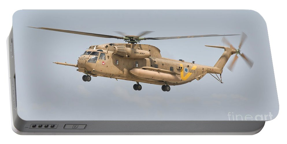 Israel Portable Battery Charger featuring the photograph A Sikorsky Ch-53 Yasur Of The Israeli by Giovanni Colla