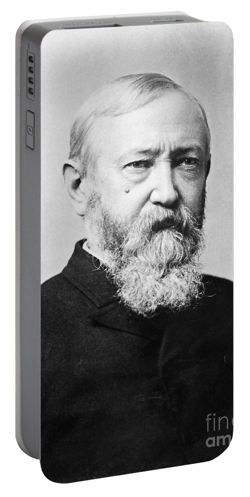 1888 Portable Battery Charger featuring the photograph Benjamin Harrison by Granger