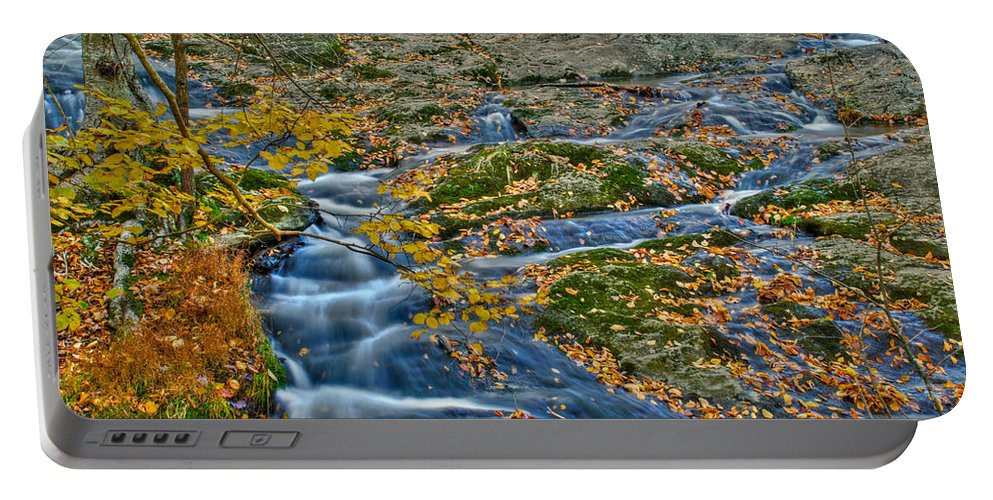 Cunningham Falls Portable Battery Charger featuring the photograph Big Hunting Creek Upstream From Cunningham Falls by Mark Dodd