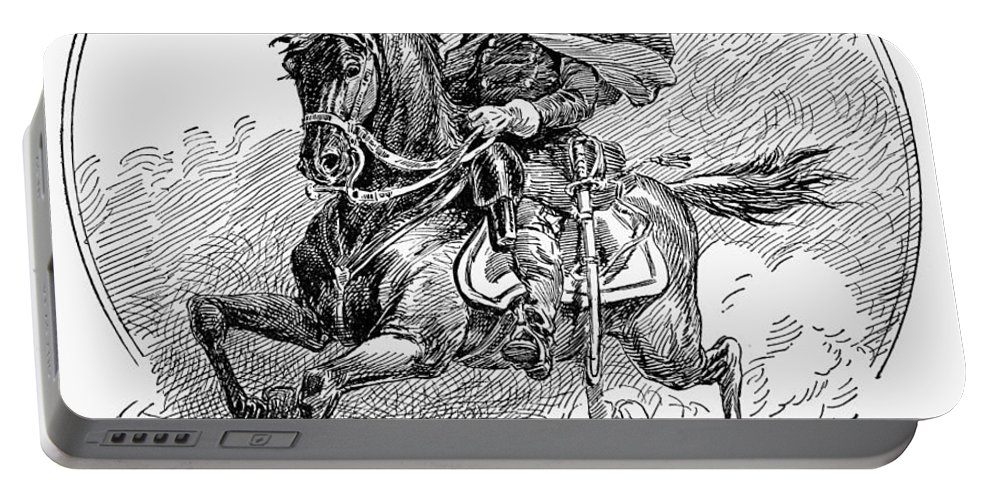 1863 Portable Battery Charger featuring the photograph Philip Henry Sheridan by Granger