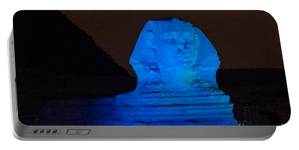 Africa Portable Battery Charger featuring the digital art Pyramids Of Giza by Carol Ailles