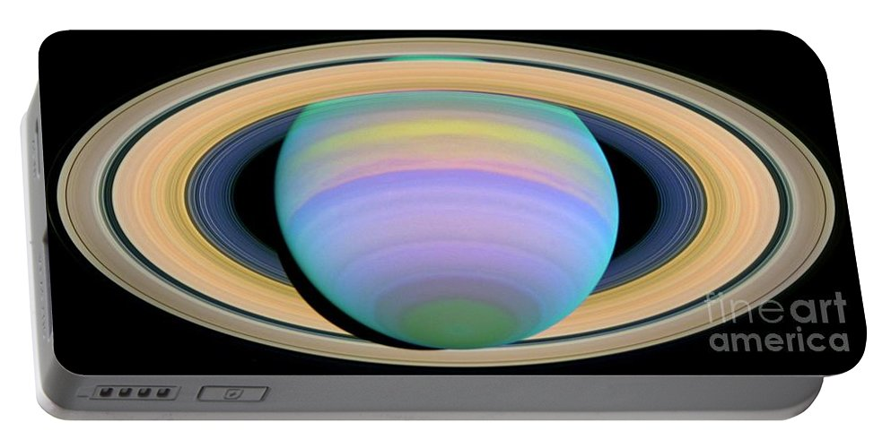 Saturn Portable Battery Charger featuring the photograph Saturn by Nasa