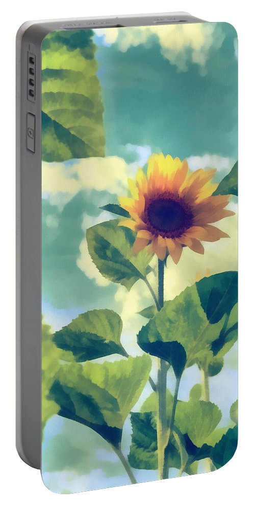 Art Portable Battery Charger featuring the photograph Sunflower by Michael Goyberg