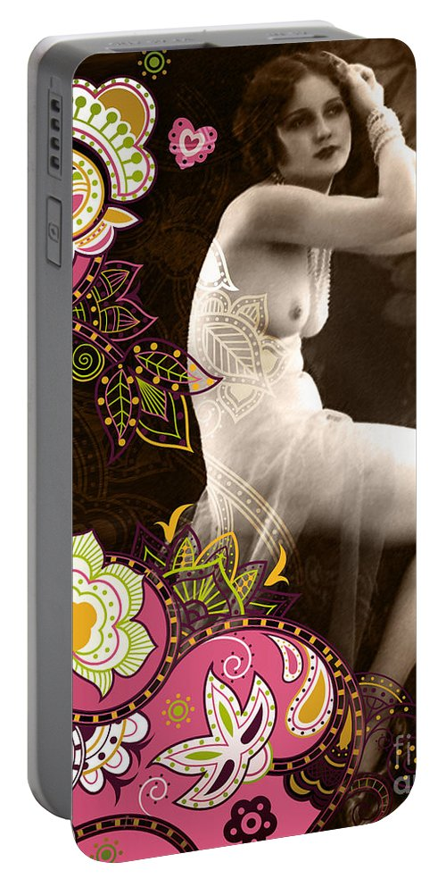 Nostalgic Seduction Portable Battery Charger featuring the photograph Goddess by Chris Andruskiewicz