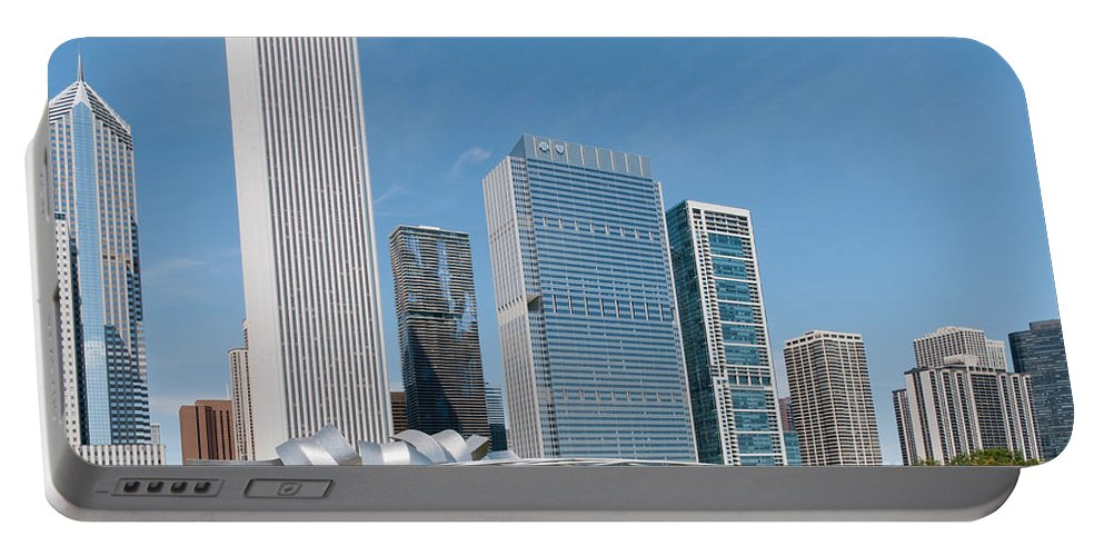 Chicago Portable Battery Charger featuring the digital art Chicago City Scenes by Carol Ailles