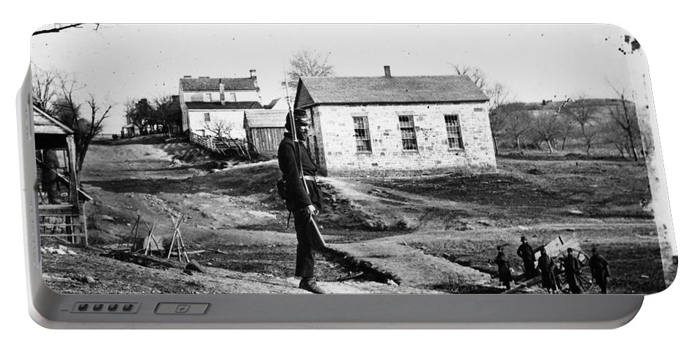 1861 Portable Battery Charger featuring the photograph Civil War: Bull Run, 1861 by Granger