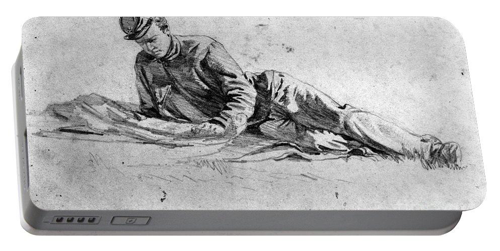 1863 Portable Battery Charger featuring the photograph Civil War: Soldier by Granger