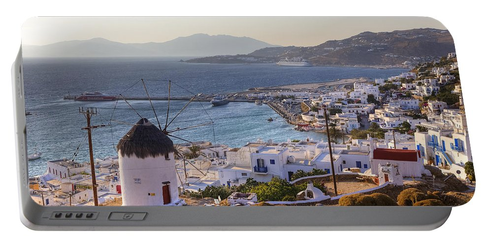 Ano Myli Portable Battery Charger featuring the photograph Mykonos by Joana Kruse