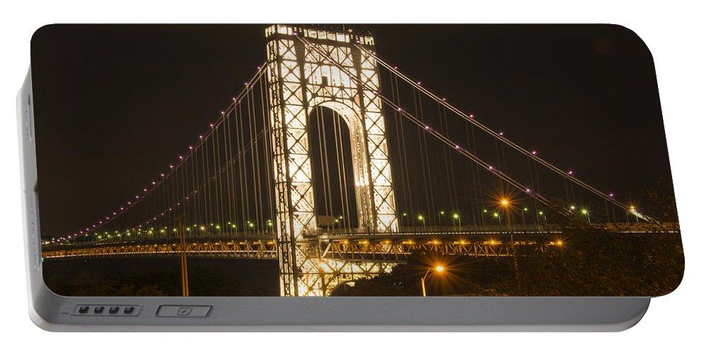 Bridge Portable Battery Charger featuring the photograph George Washington Bridge by Theodore Jones