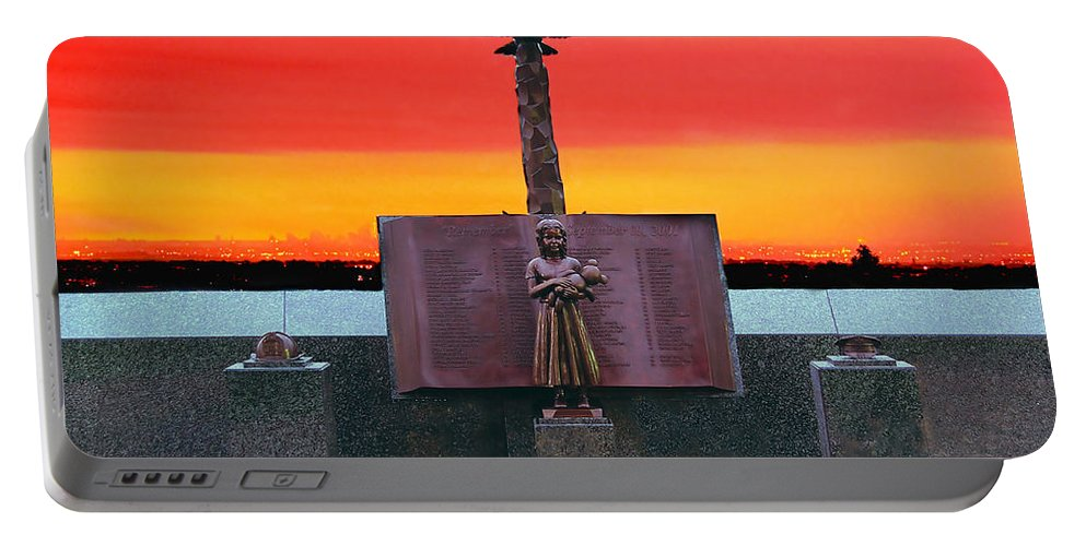 9/11 Portable Battery Charger featuring the photograph 9-11 West Orange Nj by Nick Zelinsky