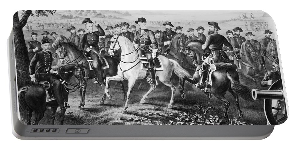 1860s Portable Battery Charger featuring the photograph Robert E. Lee (1807-1870) by Granger
