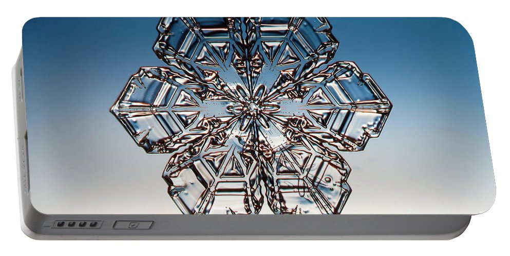 Snowflake Portable Battery Charger featuring the photograph Snowflake by Ted Kinsman