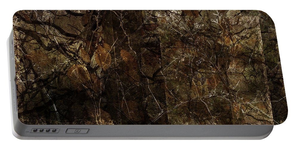 Landscape Portable Battery Charger featuring the digital art A Brown Study by Ron Jones