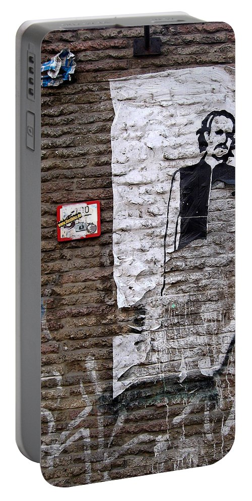 Character Portable Battery Charger featuring the photograph A Character On The Wall by RicardMN Photography