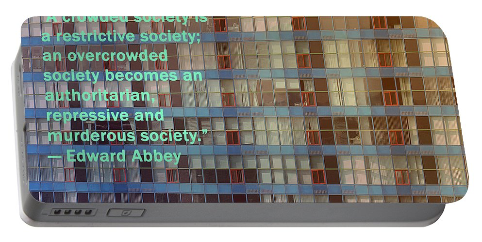 Poster Portable Battery Charger featuring the photograph A Crowded Society by Ian MacDonald