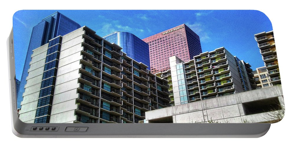 Clay Portable Battery Charger featuring the photograph A Different Perspective On Downtown Los Angeles II by Clayton Bruster