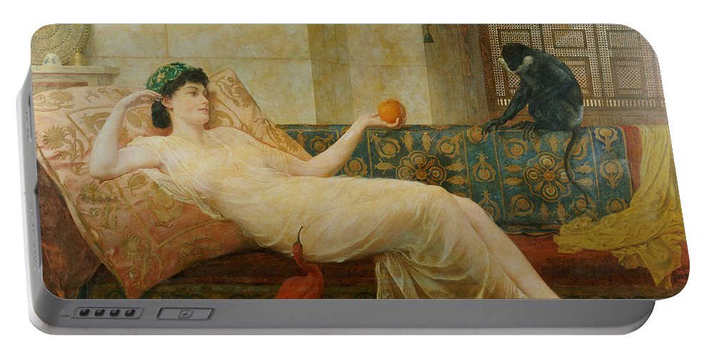 A Dream Of Paradise Portable Battery Charger featuring the painting A Dream Of Paradise by Frederick Goodall