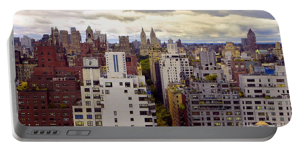 Manhattan Portable Battery Charger featuring the photograph A Manhattan View by Madeline Ellis