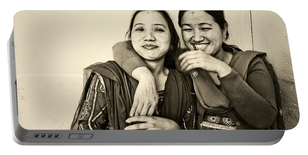 Women Portable Battery Charger featuring the photograph A Portrait Of Good Friends by Valerie Rosen