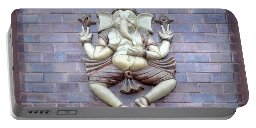 God Portable Battery Charger featuring the photograph A Sculpture Of The Hindu God Ganesha by Ashish Agarwal