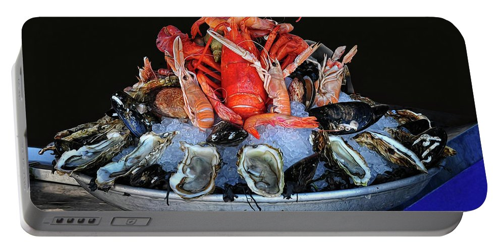 Seafood Portable Battery Charger featuring the photograph A Seafood Orgy by Dave Mills