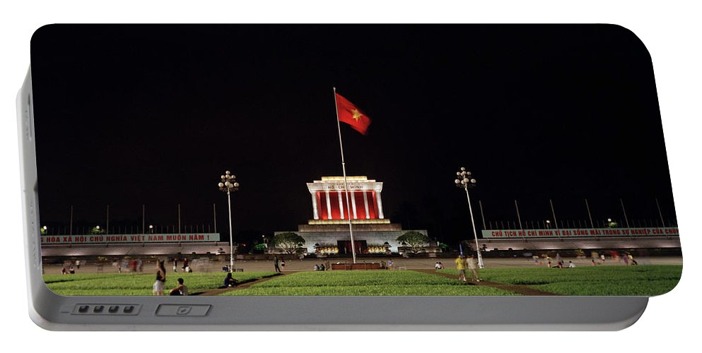 Asia Portable Battery Charger featuring the photograph A Serene Ho Chi Minh Mausoleum by Shaun Higson