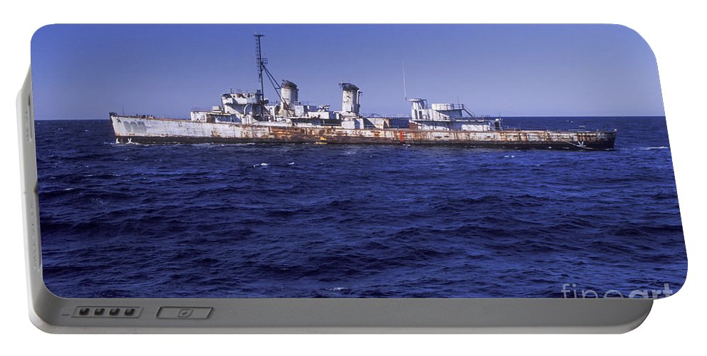 Military Portable Battery Charger featuring the photograph A U.s. Navy Deactivated Ship Sits Ready by Michael Wood