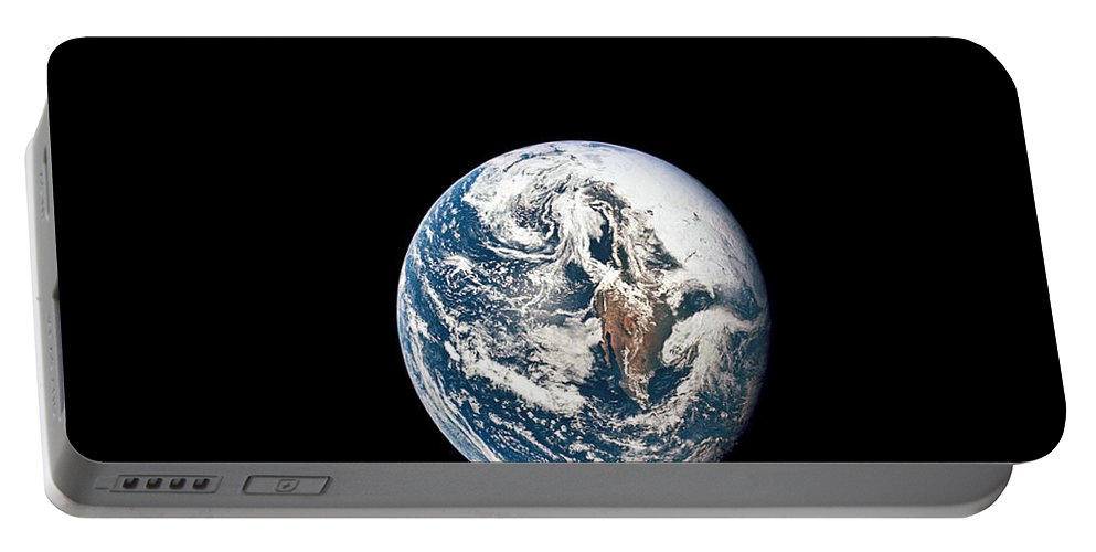 World Portable Battery Charger featuring the photograph A View Of Earth Taken From The Apollo by Stocktrek Images