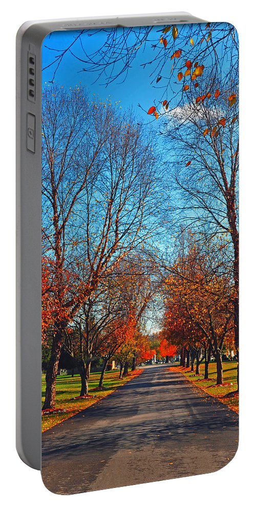 Tree Portable Battery Charger featuring the photograph A Walk To Remember by Brittany Horton