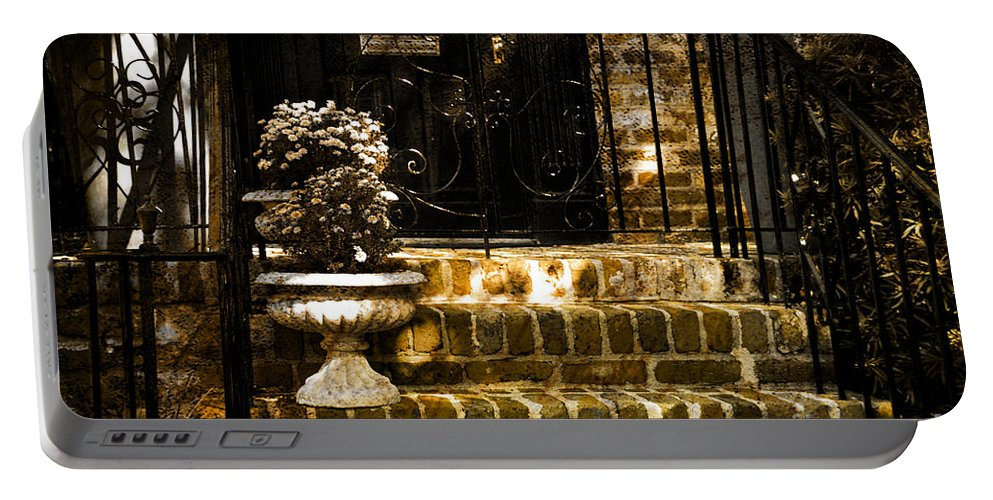 House Door Portable Battery Charger featuring the photograph A Warm Welcome by Susanne Van Hulst