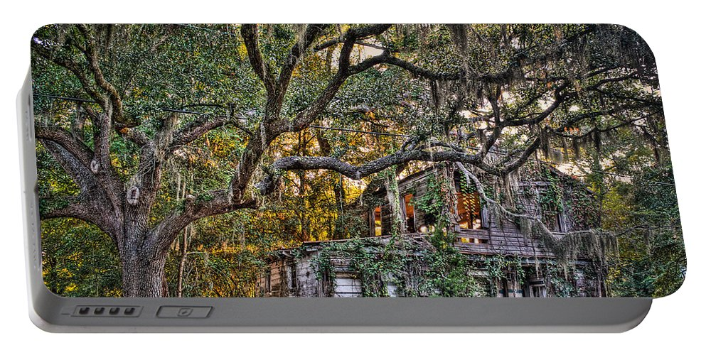 Charleston Portable Battery Charger featuring the photograph Abandoned But Not Forgotten by Andrew Crispi