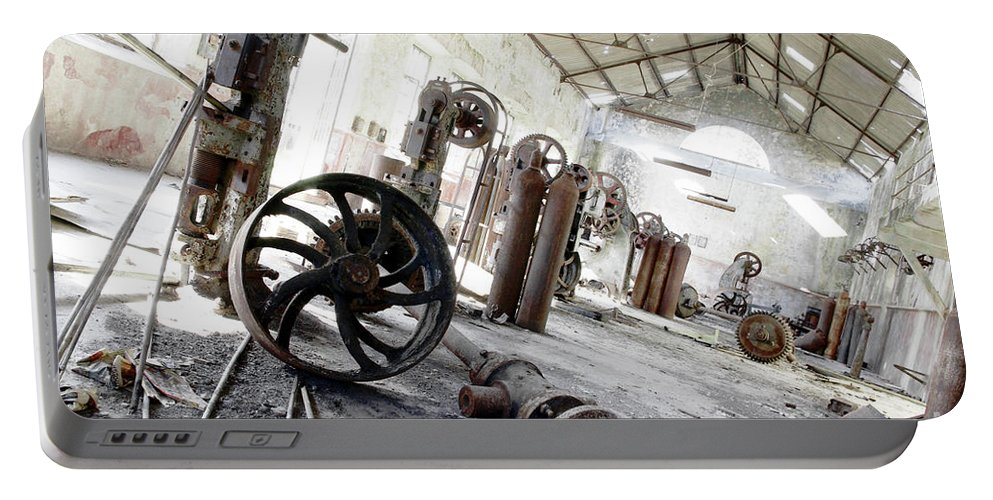 Abandoned Portable Battery Charger featuring the photograph Abandoned Factory by Carlos Caetano