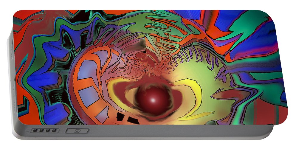 Abstract Portable Battery Charger featuring the digital art Abandoning Art by Ian MacDonald